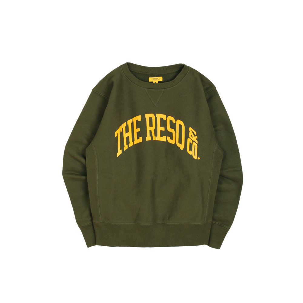 BALLGAME SWEATSHIRT [KHAKI]THE RESQ(더레스큐)