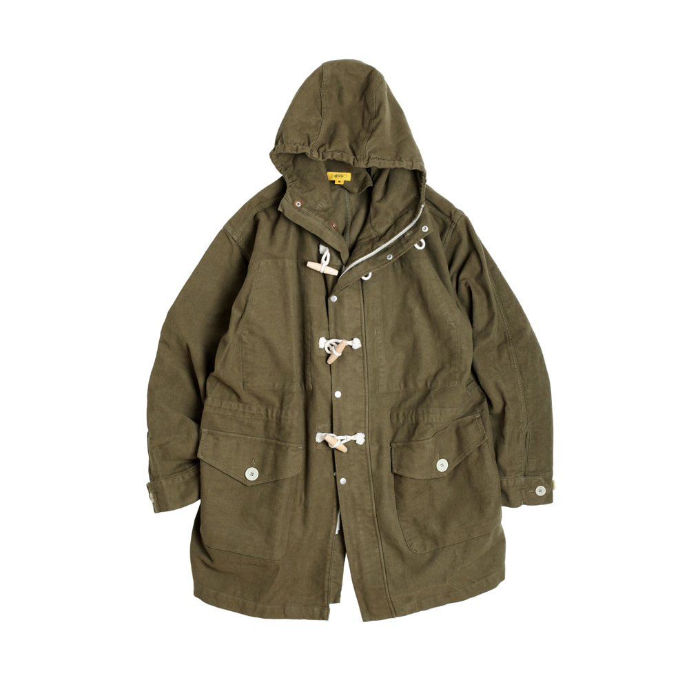 MOLESKIN TEDDY SHELL-PARKA [KHAKI]THE RESQ(더레스큐)