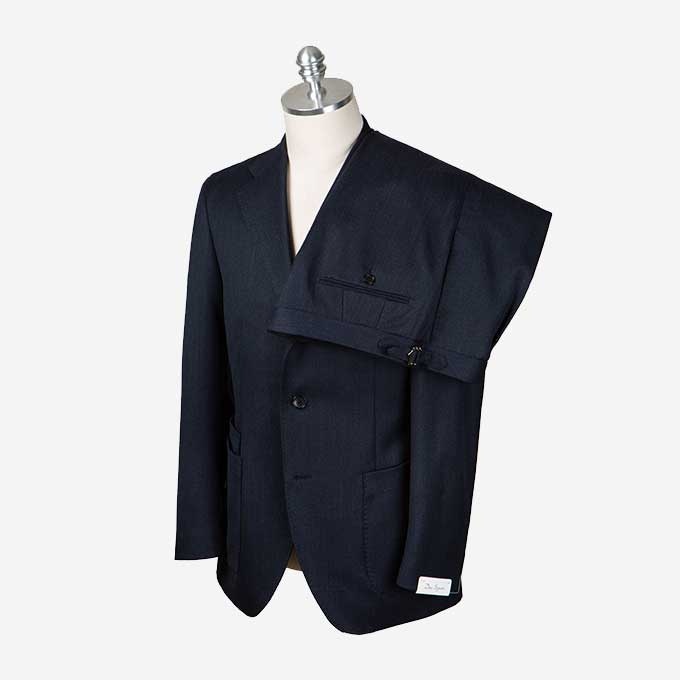 Navy Color Covert Suitduesignori(두에시뇨리)