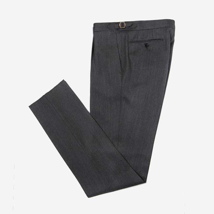 Dark Gray Color Covert Trouserduesignori(두에시뇨리)