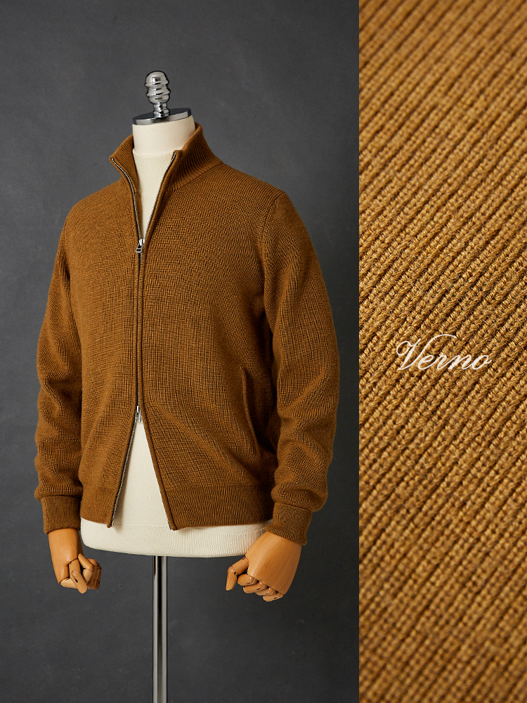 2way zip-up knit_Golden yellowVERNO(베르노)