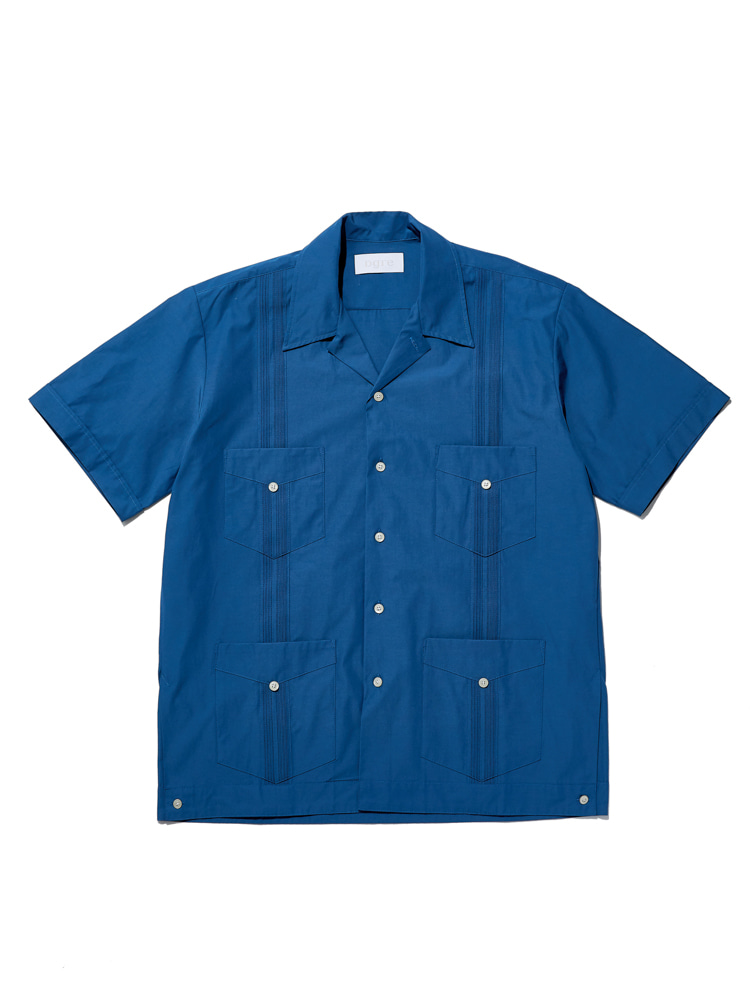 디그레(Dgre)CORNWALL SHORT SLEEVE SHIRTS BLUE