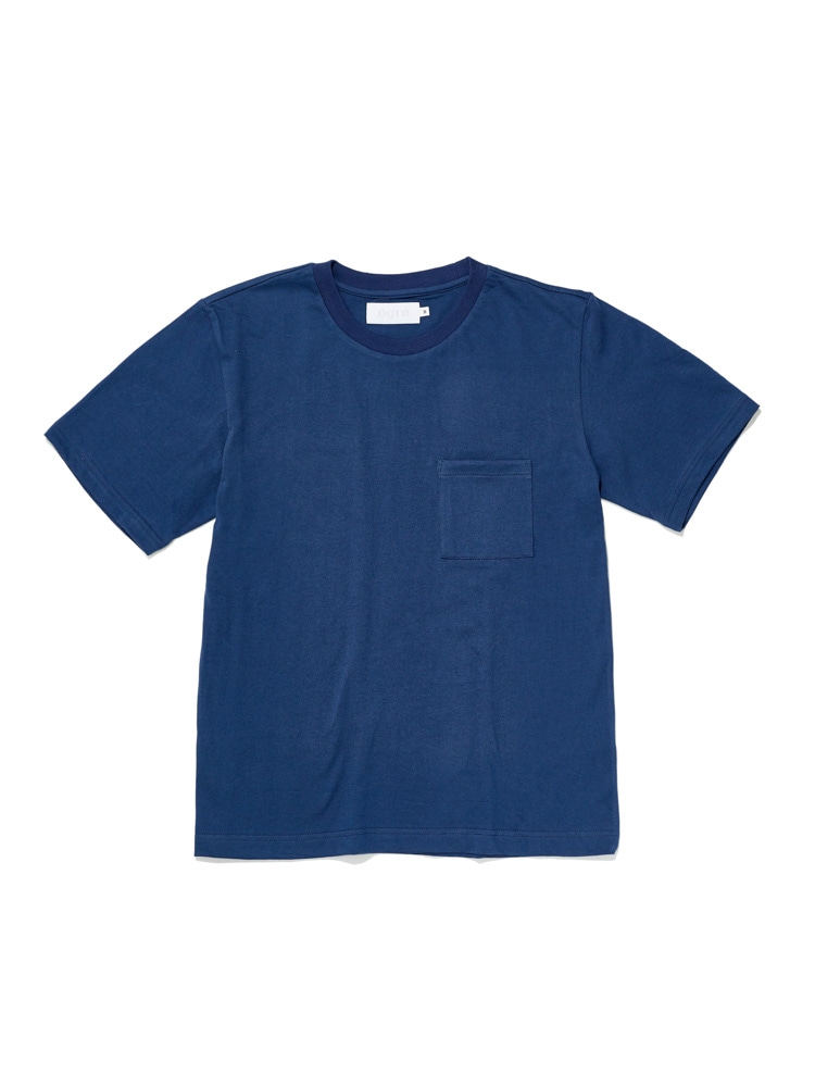 디그레(DGRE)POCKET SHORT SLEEVE BLUE