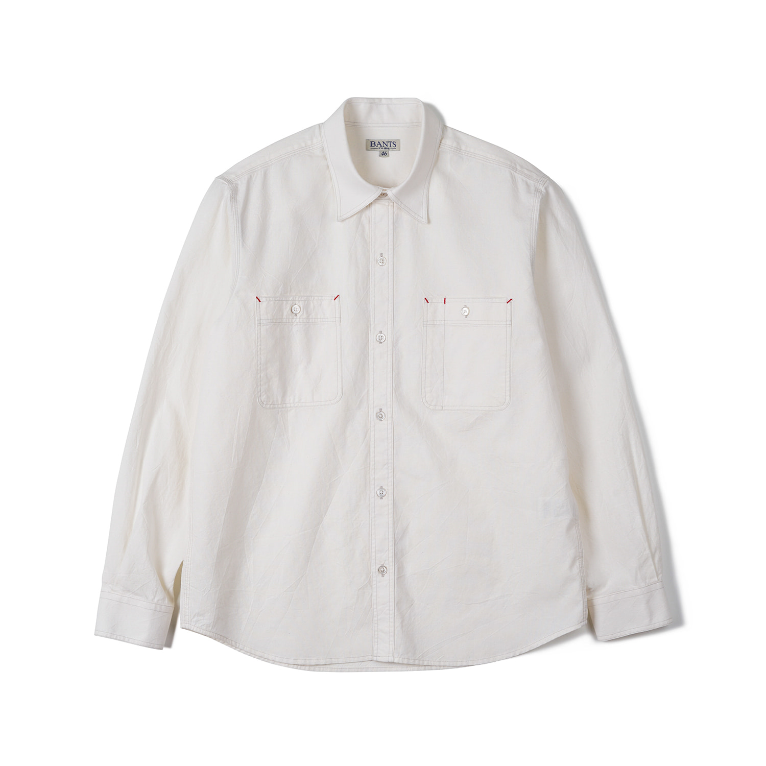 FLB Chambray Cotton Work Shirt - Off WhiteBants(반츠)