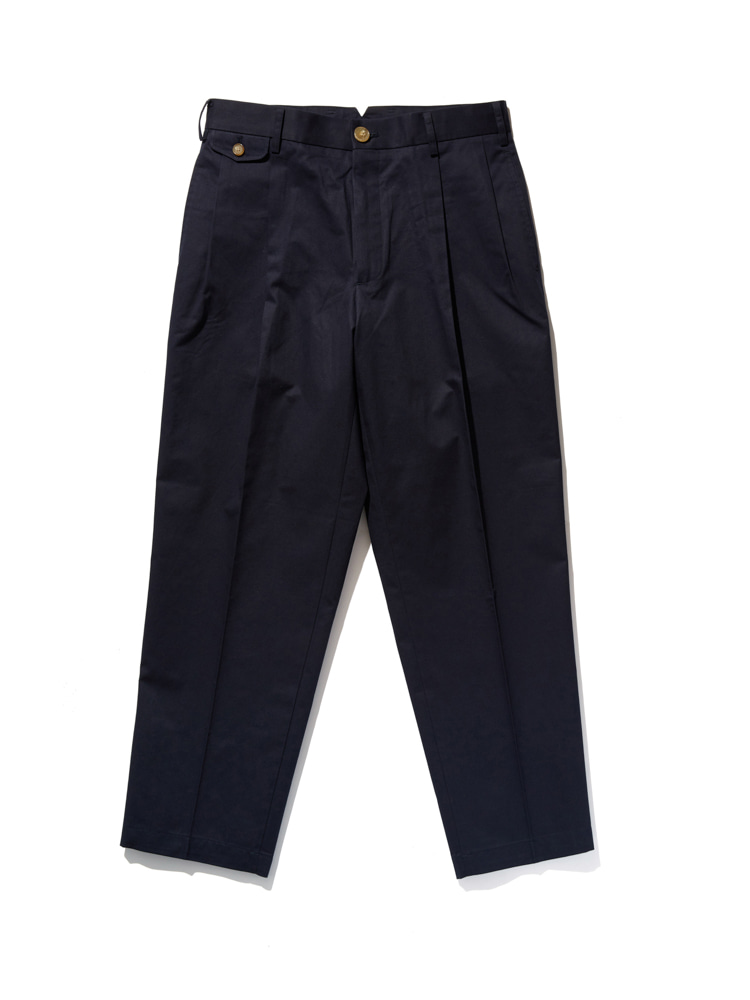 디그레(DGRE)MOOR TAPPERD FIT PANTS NAVY