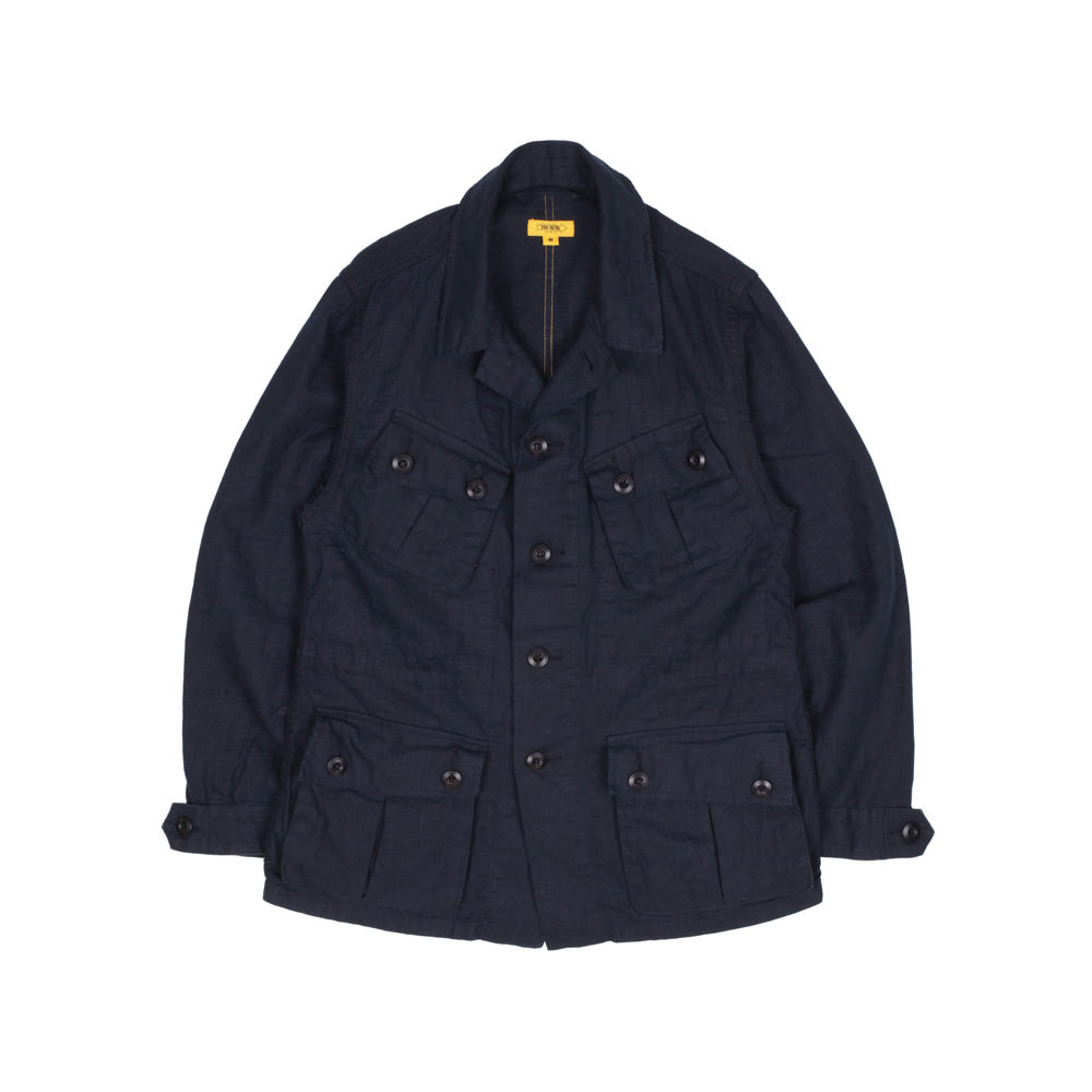 더레스큐(THE RESQ)HAVANA JACKET(LINEN) [NAVY]
