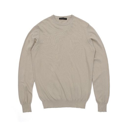 베나코앤폰타나(benaco & fontana)Cotton crewneck knit01_IV