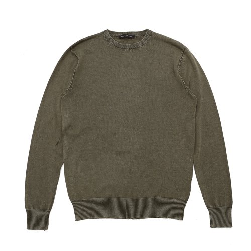 베나코앤폰타나(benaco & fontana)Washing crewneck knit01_KH