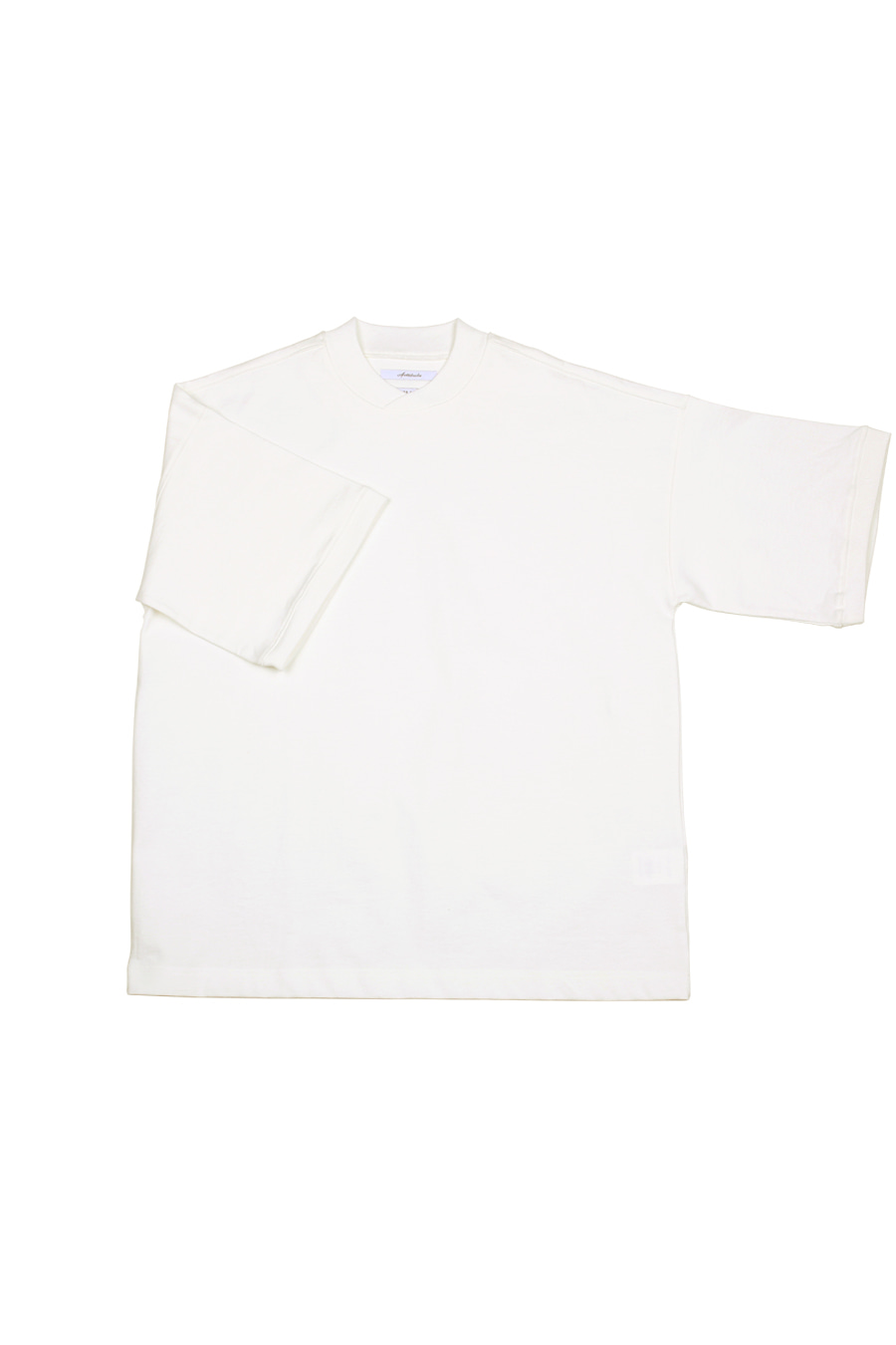 아티튜드(ARTTITUDE)Curved Mock Neck Half Tee / Off White