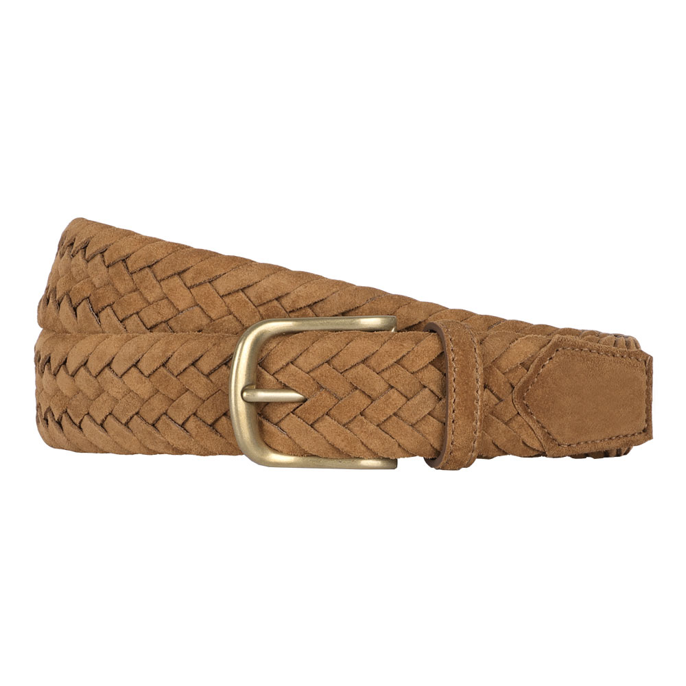 빅터앤알버트(VICTOR&ALBERT)TAN BROWN SUEDE BRAIDED BELT