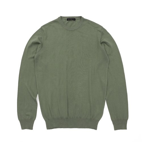 베나코앤폰타나(benaco & fontana)Cotton crewneck knit01_KH