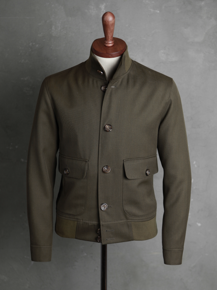 벨보로(BELLVORO)TYPE A-1 FLIGHT JACKET_DARK GREEN