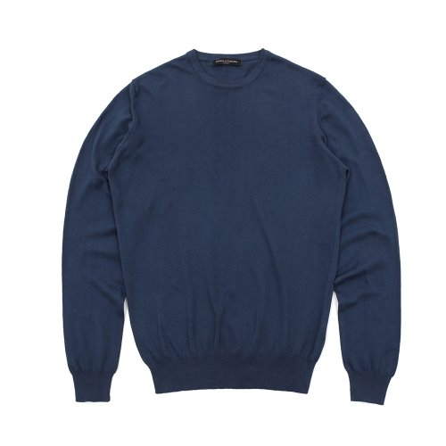 베나코앤폰타나(benaco & fontana)Cotton crewneck knit01_EB