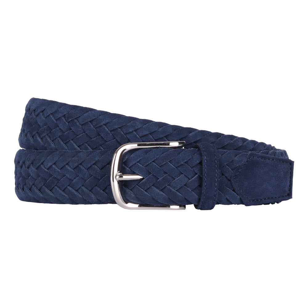 빅터앤알버트(VICTOR&ALBERT)NAVY SUEDE BRAIDED BELT