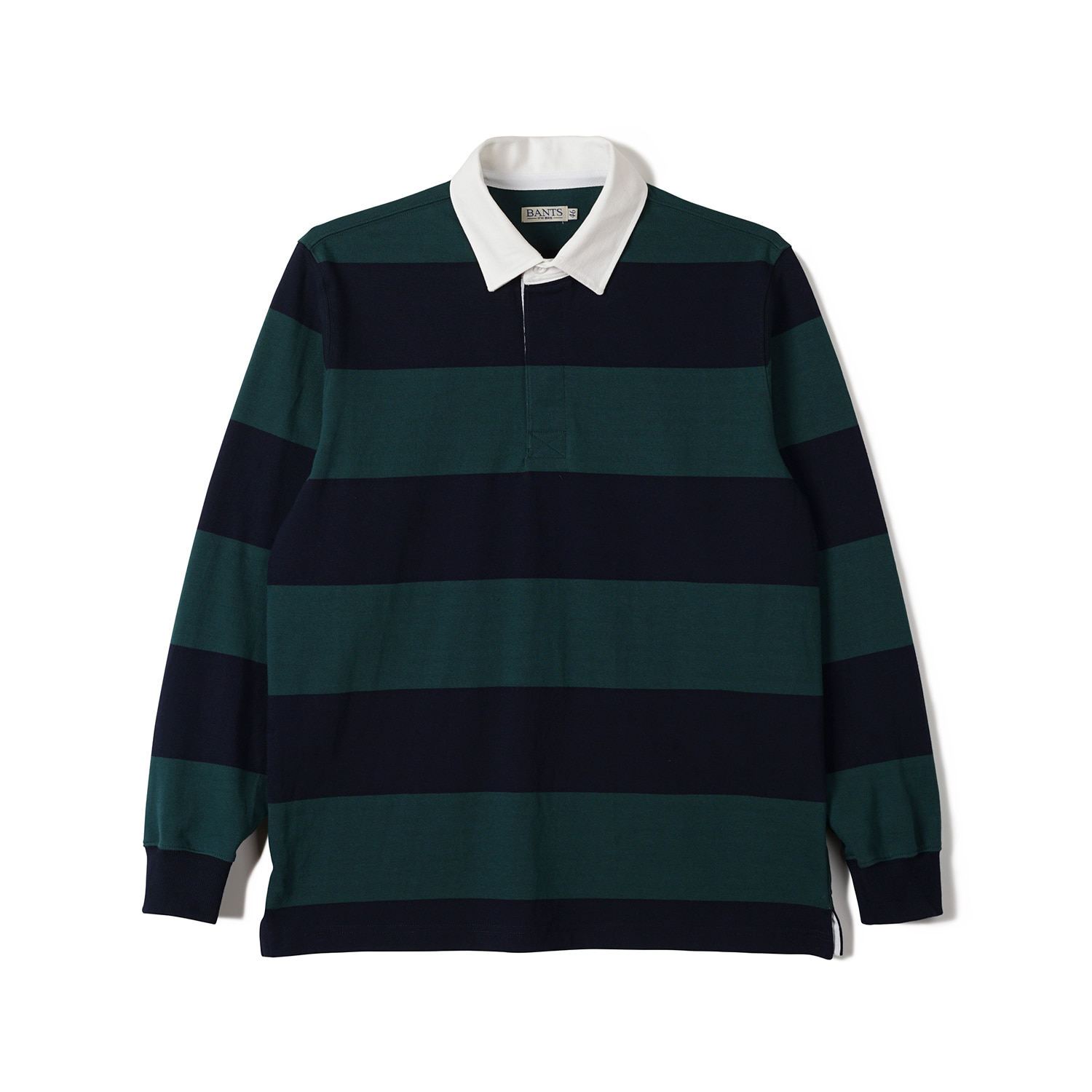 FLB Stripe Cotton Rugby T-shirt Green x NavyBANTS(반츠)