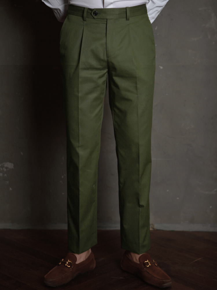 Chino Pants For Wet Day - Olive GreenBellvoro(벨보로)