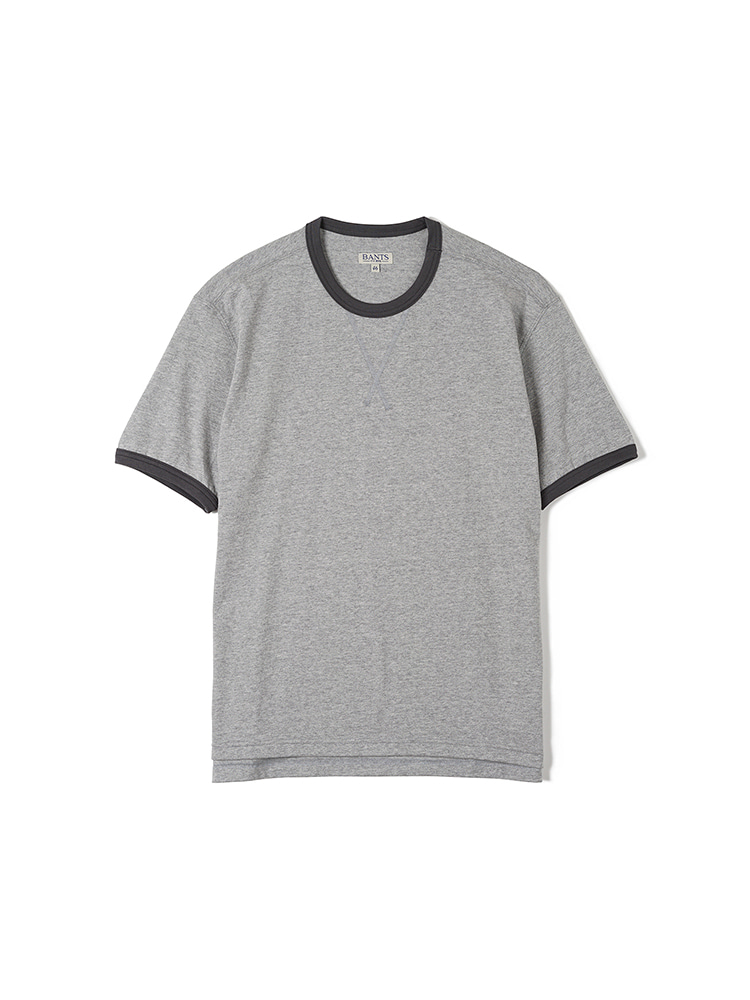 FLB Cotton Round Neck T-shirt Half - GreyBANTS(반츠)