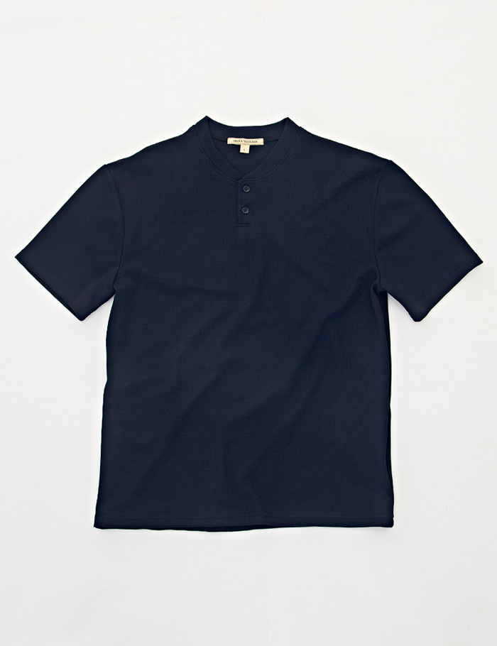 HENRY NECK 2bt T-shirt  navy ORTUS VASTERDS(올투스 바스터즈)