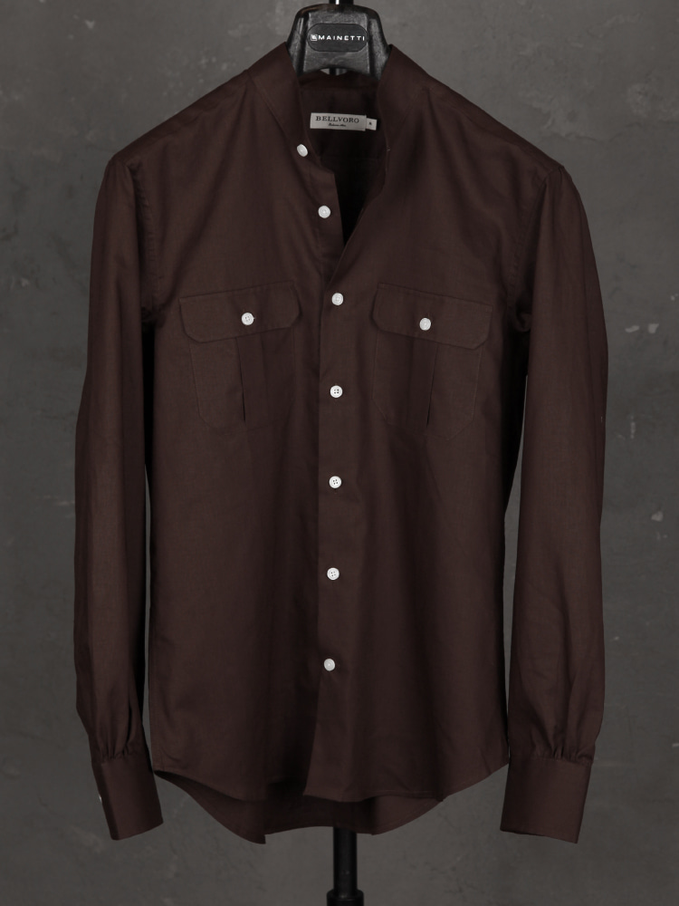 Linen/Cotton Safari Shirts - BrownBELLVORO(벨보로)