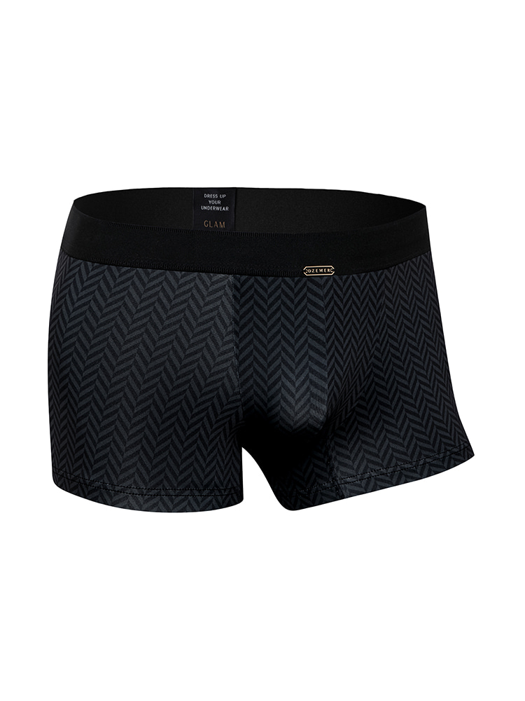HERRINGBONE BOXER BRIEFS charcoal DZEMER(드제메르)