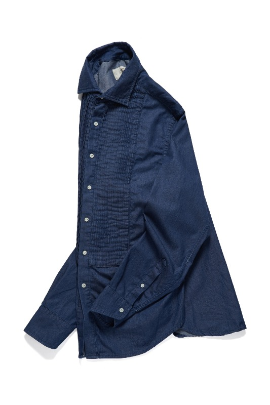 DENIM TUXEDO SHIRTS_DARK BLUEAMFEAST (암피스트)