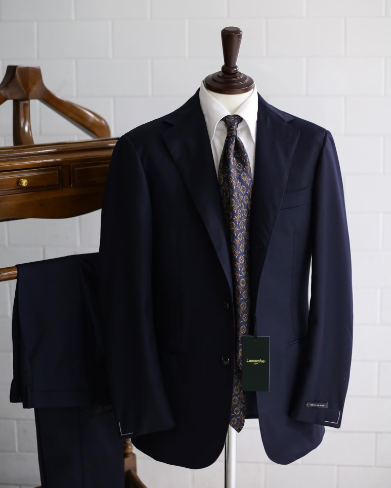 LMJ-06 dark navy SUITLamarche Napoli made by RingJacket라마르쉐나폴리