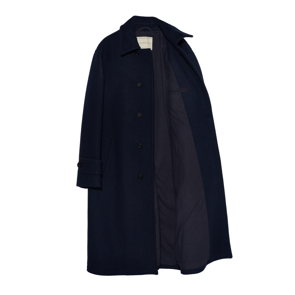 Heavy wool single coat NAVYCHADPROM(채드프롬)