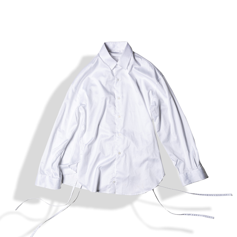 STRING GLOSSY COTTON SHIRTS / WHITEArttitude(아티튜드)