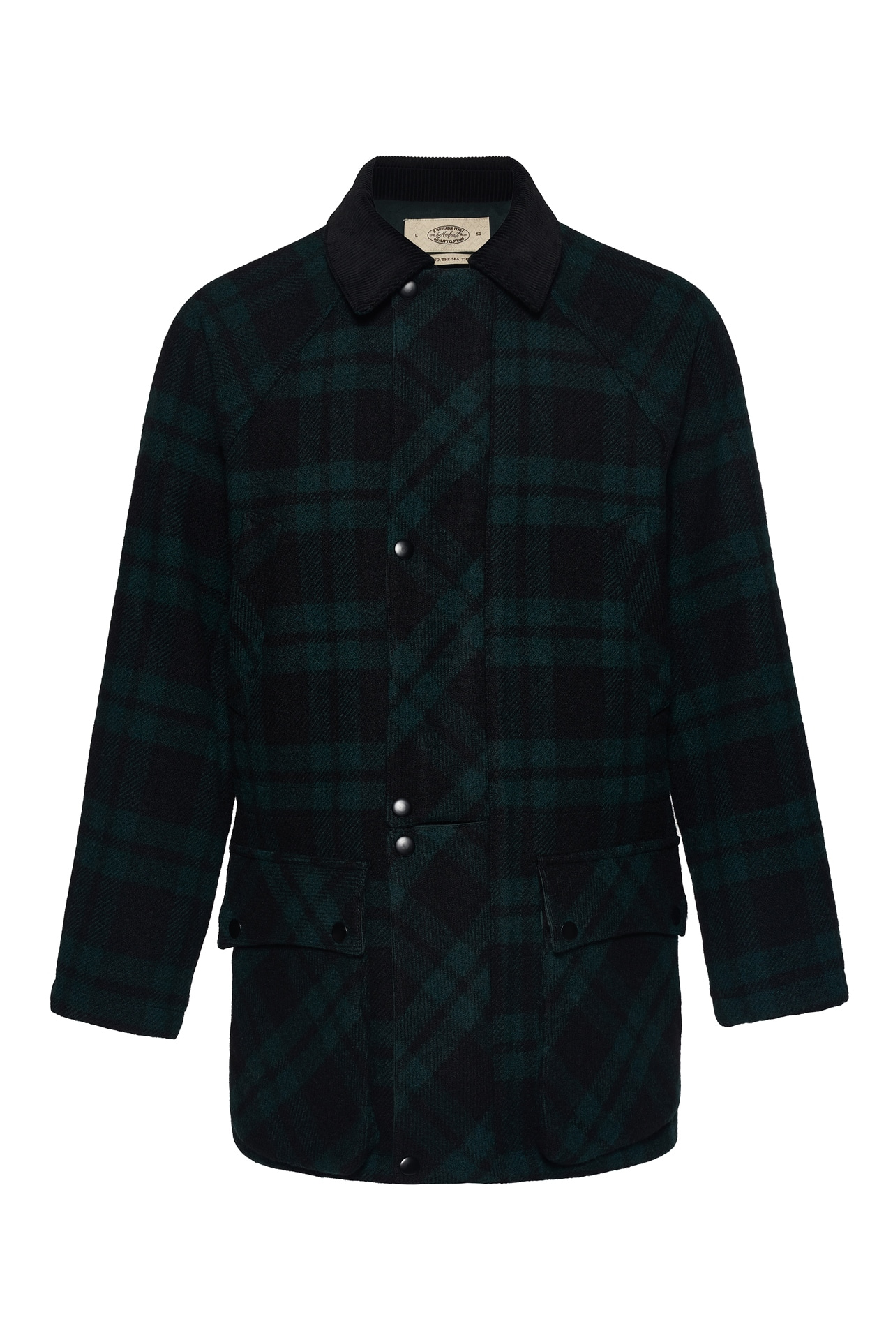GREEN TARTAN SIGNATURE CITY HALF COATLovat millAMFEAST(암피스트)