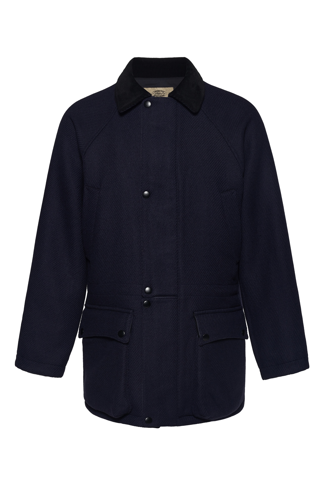 NAVY SOLID SIGNATURE CITY HALF COATAMFEAST(암피스트)