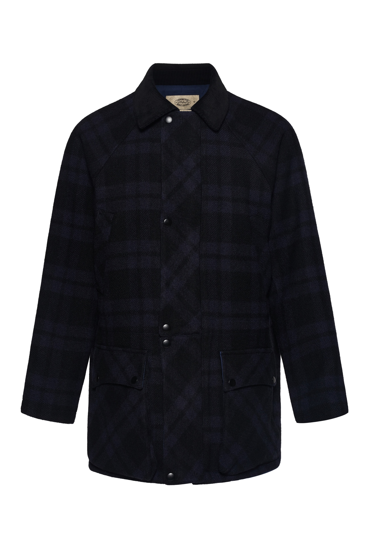 NAVY TARTAN SIGNATURE CITY HALF COATLovat millAMFEAST(암피스트)