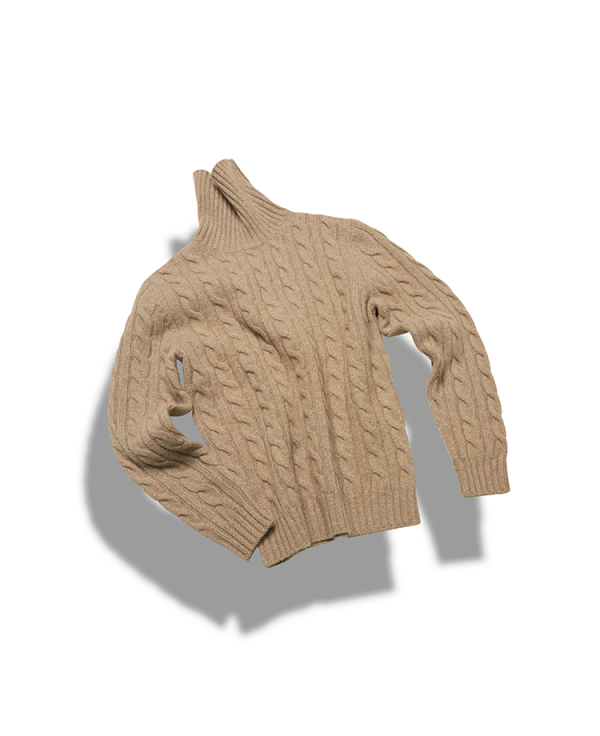 5g 5ply Cable turtleneck_Sand beigeVERNO(베르노)