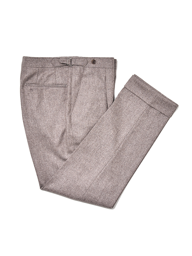 (Limited) Canonico Flannel pants - Dark BeigeESTADO(에스타도)