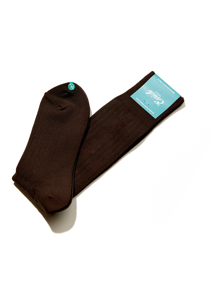 Bamboo Socks - Brown Diamond RibEnrich(인리치)
