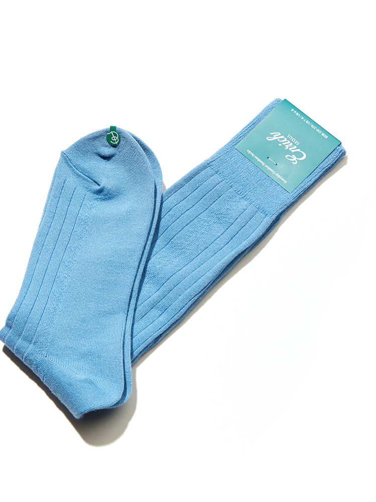 Bamboo Socks - Skyblue Diamond RibEnrich(인리치)