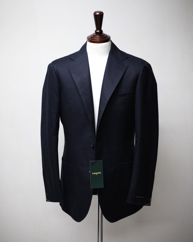 20 S/S Navy SUPIMA COTTON JacketLamarche Napoli라마르쉐나폴리
