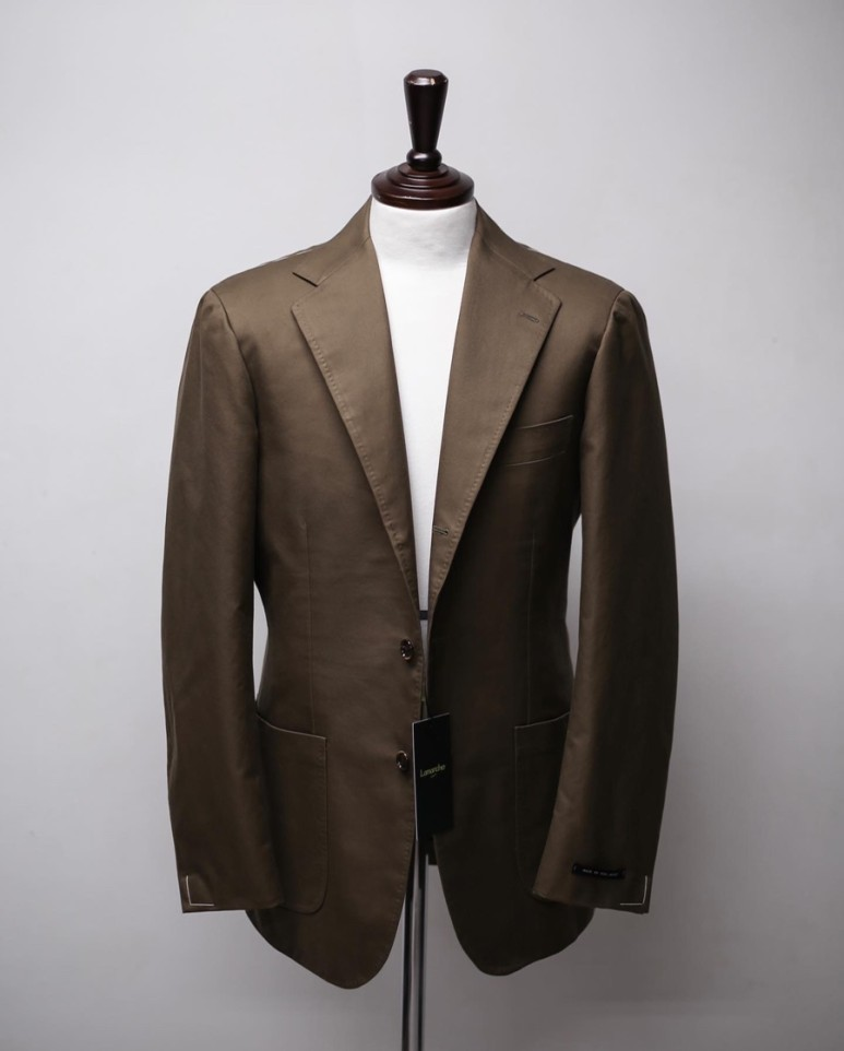 20 S/S BROWN SUPIMA COTTON JacketLamarche Napoli라마르쉐나폴리