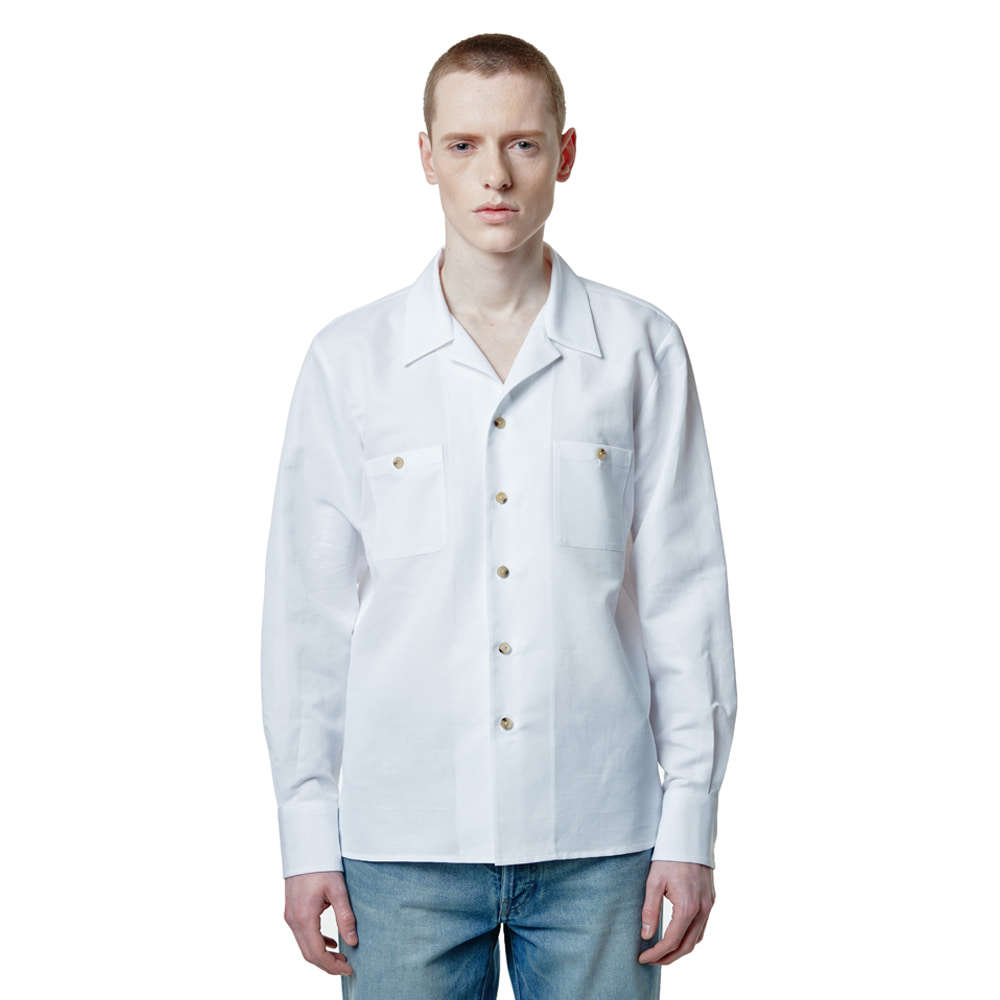 SAVAGE 2020 Cuban Linen Shirts - White세비지