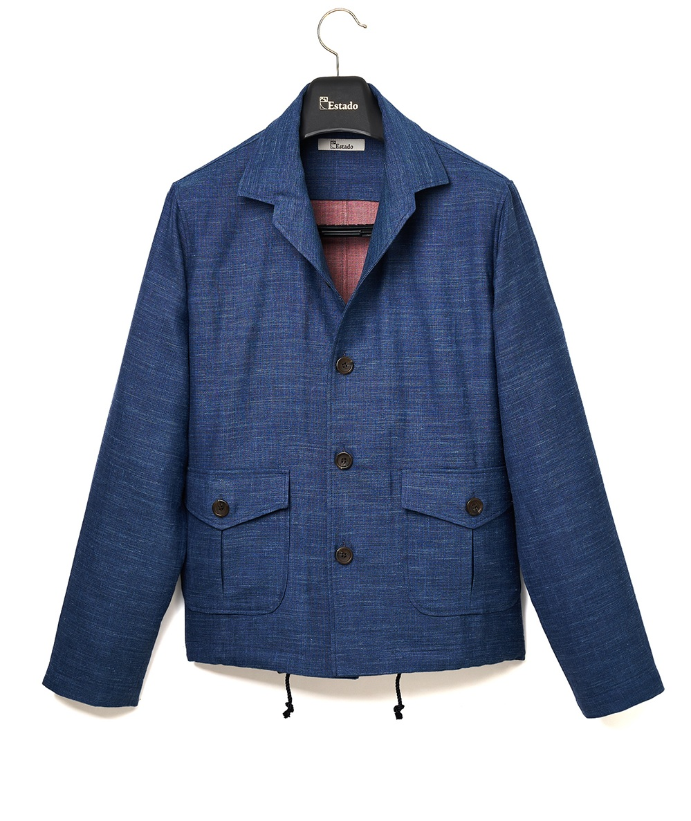 (Limited) Loropiana A2 Linen blouson (Navy/Red)ESTADO(에스타도)