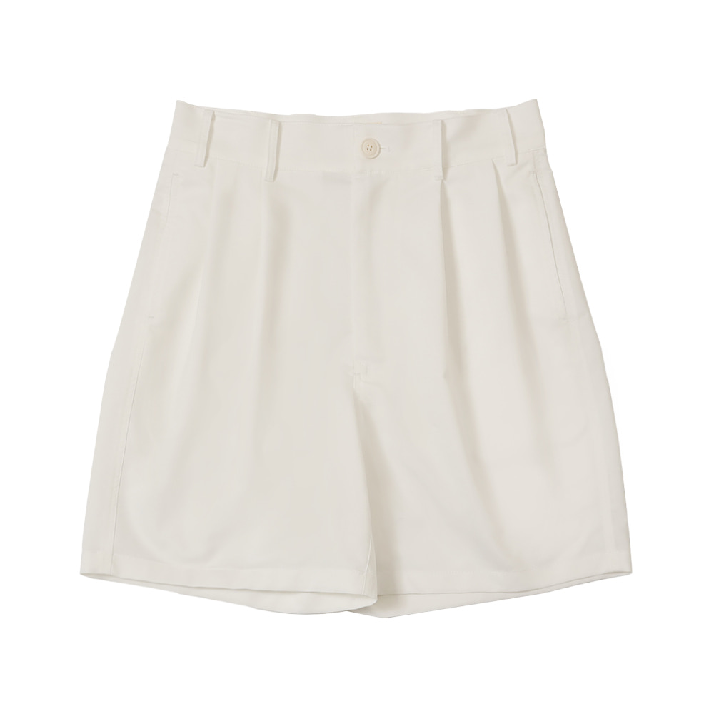 4 PLEAT SHORT PANTS(Ivory)Fillchic(필시크)