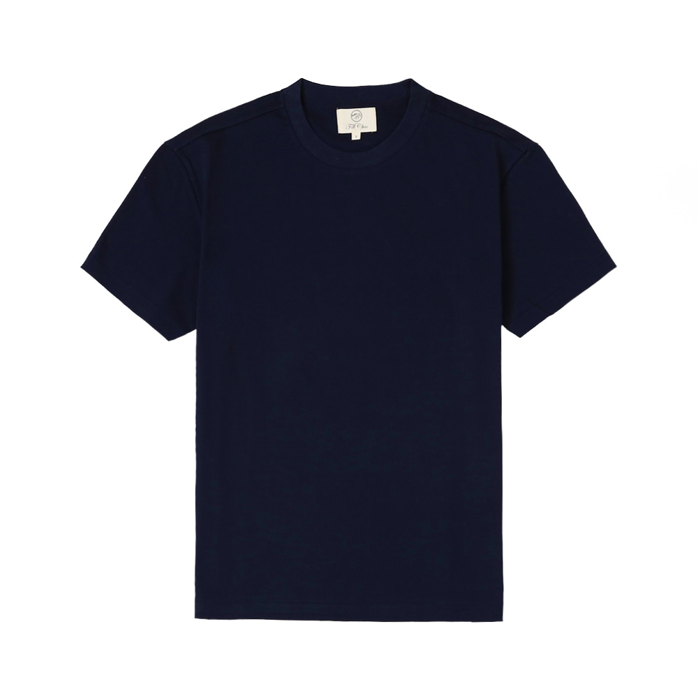 SILKET COTTON T-SHIRT(Navy)Fillchic(필시크)