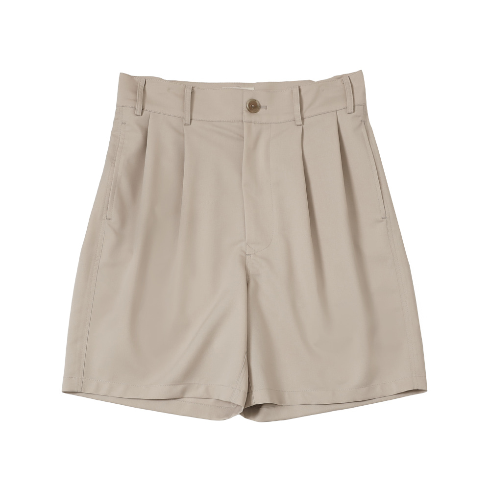 4 PLEAT SHORT PANTS(Beige)Fillchic(필시크)
