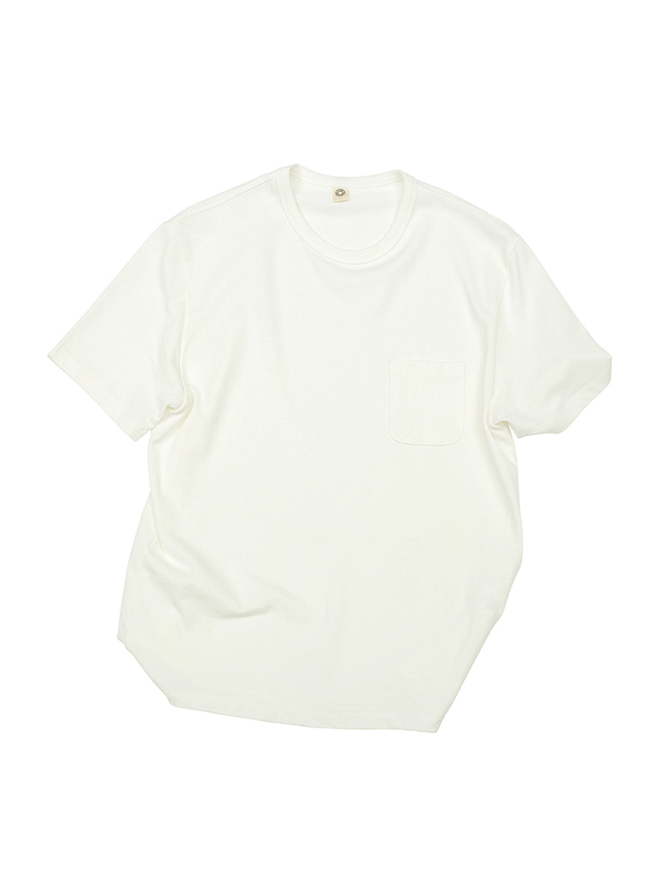 GEN COTTON CREWNECK T-SHIRT OFF WHITEOLDBē(올드비)