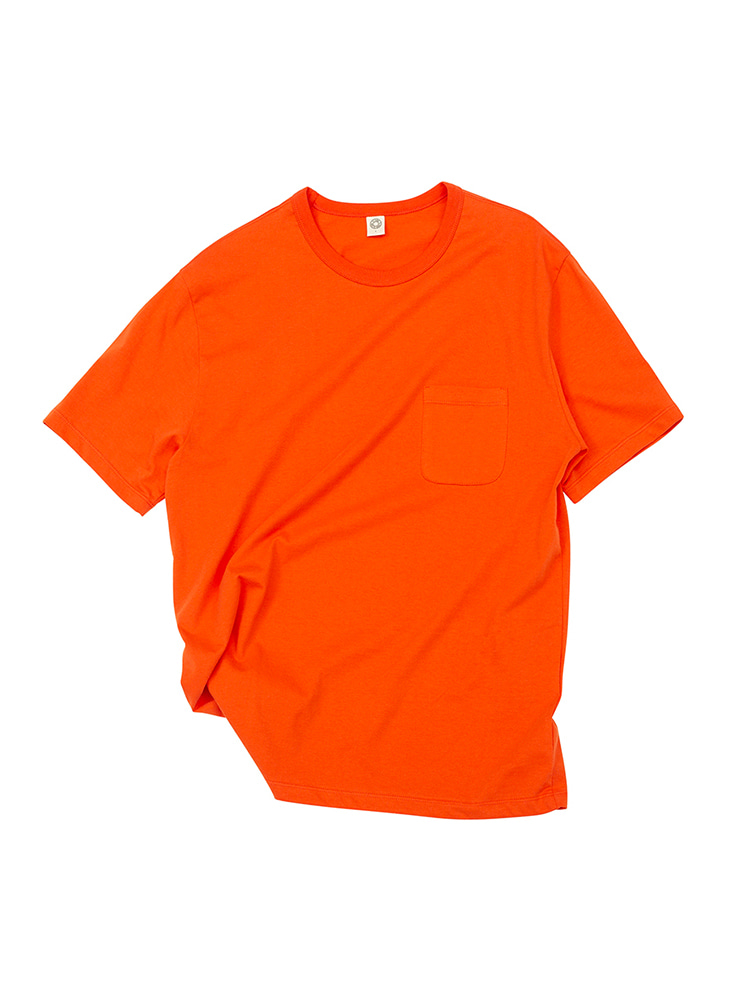 GEN COTTON CREW NECK T-SHIRT CORAL ROSEOLDBē(올드비)