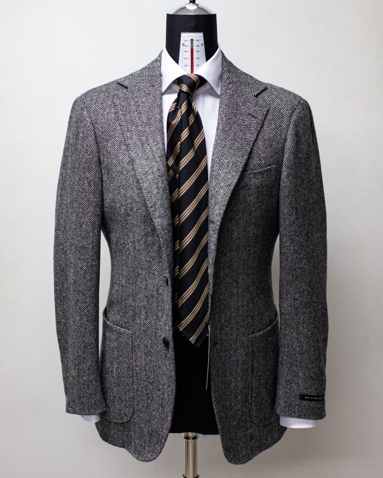 20FW Abrahammoon Herringbone Tweed JACKET GreyLamarche Napoli라마르쉐나폴리