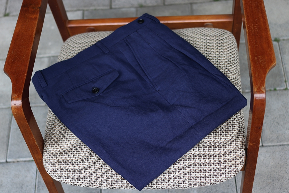 Navy Linen PantsCOMPLETO(꼼플레토)