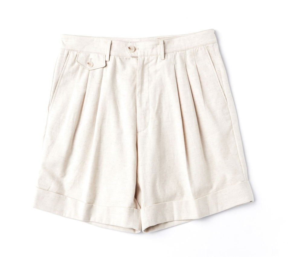 OATMEAL BERMUDA SHORTSAmfeast암피스트