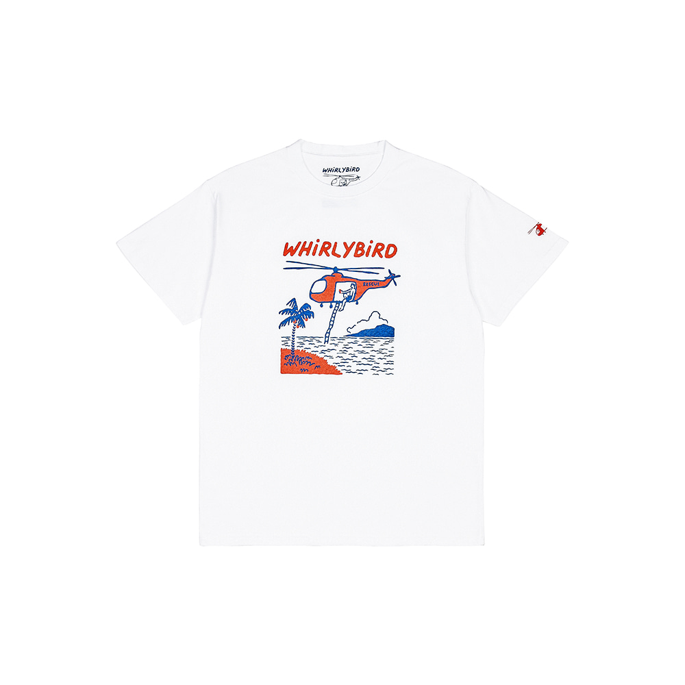 WHiRLYBiRD LOGO TEE [WHITE]THE RESQ&Co(더레스큐컴패니)