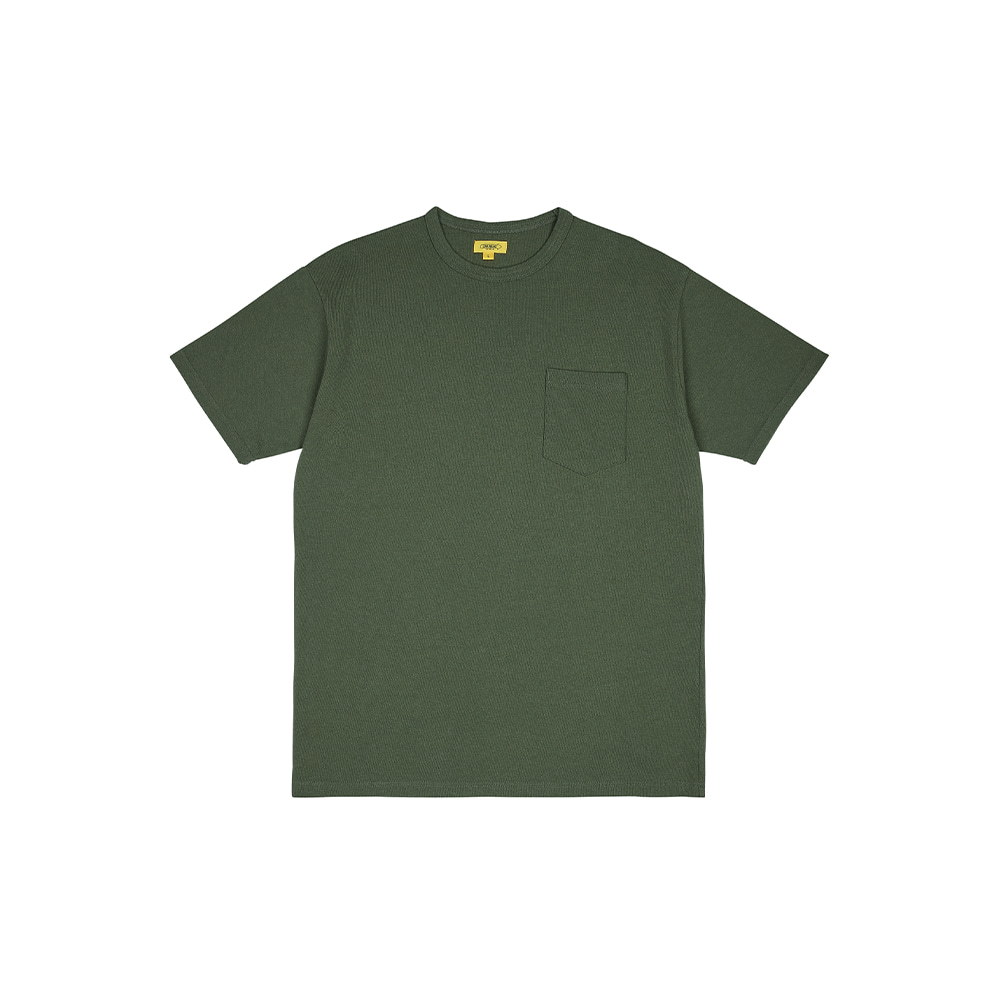 POCKET TEE [MOSS GREEN]THE RESQ&Co(더레스큐컴패니)