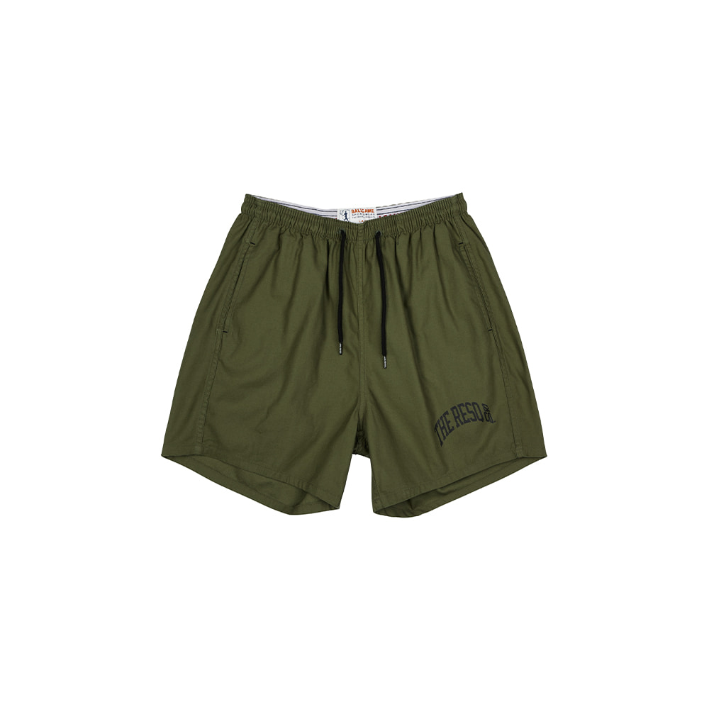 BALLGAME TRAINING SHORTS [OLIVE GREEN]THE RESQ&Co(더레스큐컴패니)